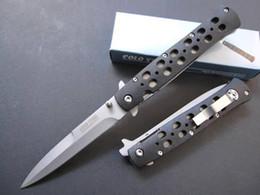 "Wholesale Drop Ship Camping - Drop shipping Cold Steel 26S pocket knife Hot Sale Survival Camping gift hiking Knife knives Zytel 4"" Satin   Black EDC pocket knife Foldin"