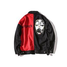 Wholesale Korean Hip Hop Clothes - Korean ulzzang hit color jacket men handsome autumn 2017 baseball clothing hip-hop tide brand coat men and women couples