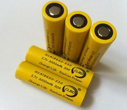 Wholesale Power Equipments - 100% authentic new power CLRD battery e-cig discharge lithium battery NCA18650-E30 3000MAH 30A for high current load equipments
