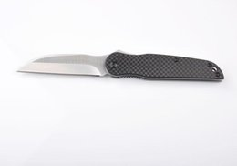 Wholesale Titanium Knives China - Top Funtion China High End Folder Carbon Fiber Handle Very Sharp D2 Blade EDC Knife Survival Camping Knife Xmas Gift F367L