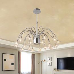 Post-moderna llevó la lámpara de techo de la lámpara colgante de araña de cristal nuevo diseño encantador cristal redondo creativa luces colgantes restaurante paño de la tienda del hotel desde fabricantes