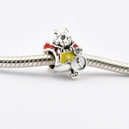 Wholesale Patriotic Charms - 2016 White Rabbit Bead 100% 925 Sterling Silver Bead Fit Pandora Fashion Jewelry DIY Charm Brand