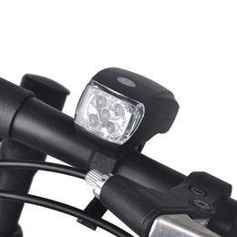 Wholesale Led Front Headlights - Mountain Bicycle Ultra Bright 5 LED Light Bike Headlight Front Light Safety Lamp Flashlight 3 Mode Cycling Light Accessory 2505045