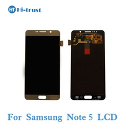 Wholesale Note Lcd Screen Replacement - Grade AAA+++ AMOLED LCD Screen Display for Samsung Galaxy Note 5 N9200 N920C N920A SM-N920Touch Screen Digitizer Assembly Replacement Parts
