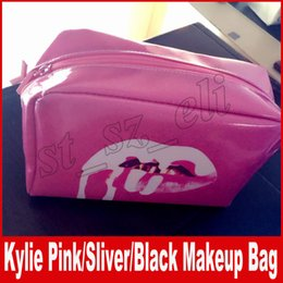 Wholesale Wholesale Fashion Make Up - Kylie Jenner bags Cosmetics Birthday Edition Pink i want it all Make up Storage Bag Sliver holiday black canvas makeup bags