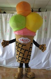 Wholesale Ice Mascot - SX0727 light and easy to wear a colourful adult ice cream mascot costume for adult to wear