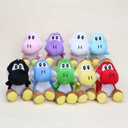 "Wholesale Yoshi Game - Anime toy super mario bros plush yoshi 7"" soft plush doll 9 colors can choose"