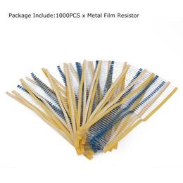 Wholesale Resistor Assortment Kit - Wholesale- 1000PCS 220 Ohm 1 4W Resistance 1% Metal Film Resistor Resistance Assortment Kits Set Electronic Accessories Kits