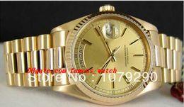 Spitzenqualitäts-Luxusuhren 118238 18238 Gelbes Vorwahlknopf-Edelstahl-Armband 36mm automatische Mens-Herrenuhr-Uhren von Fabrikanten