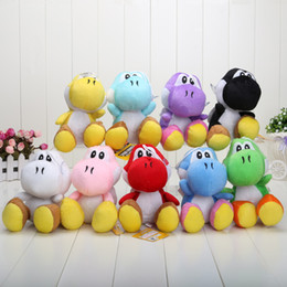 Wholesale Wholesale Childrens Stuff - 9colors super mario yoshi plush stuffed toy super mario bros plush toy yoshi 17cm approx good childrens' gift