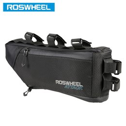 Wholesale Bicycle Frame Pannier - ROSWHEEL Bicycle Bag Water Bike Frame Corner Tube Triangle Pouch Bycicle Cycling Bags Accessories 4L Volume Extendable 121271