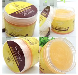 Wholesale Wholesale Foot Cream - BIOAQUA 24K GOLD Shea Buttermassage Cream Peeling Renewal Mask Baby Foot Skin Smooth Care Cream Exfoliating Foot Mask