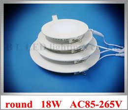 Wholesale Installing Led Recessed Lighting - recessed embeded install round ceiling LED panel light lamp LED downlight down light flat light 18W SMD 2835 90led AC 85-265V