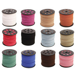 Wholesale Leather Yard Wholesale - 5 Yard(4.5m) Flat Faux Velvet Leather Cord Thread For DIY Jewelry Making Bracelets Necklaces