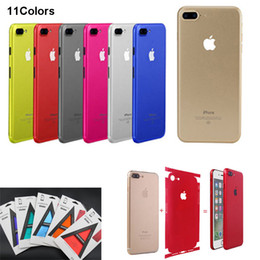 Wholesale Sticker Cell - Cell Phone Sticker Full Body Skins Ice Film Back Cover Skins Protector for iPhone 8 7 6s 6 Plus 11 colors