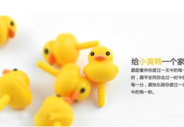 Wholesale Dust Plug Duck - Wholesale-5pcs lot lovely Cute Cartoon Yellow Duck Ear Cap Dust Plug For Iphone Samsung lg htc and all cell phone 3.5mm earphone jack plug