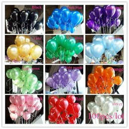 Wholesale Deep Purple Wedding Decorations - Free Shipping 300 Pcs Lot 1.5g Balloon Ball Helium Inflable Giant Latex Balloons For Wedding Birthday Party Decoration