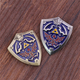 Wholesale Zelda China - Hot Game The Legend of Zelda Shield Brooch Metal High Quality Environmental Jewelry Best Gift Zelda Brooch