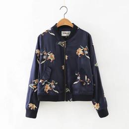 Chaquetas bordadas de seda online-Chaqueta de seda bordada de las mujeres del otoño Chaqueta clásica Chaqueta de calidad superior de lujo famosa de la marca de moda