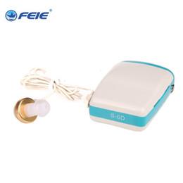 Wholesale Hearing Aid Voice Amplifier - economic micro ear telephone hearing aid sound voice amplifier pocket type hearing aid S-6D free shipping