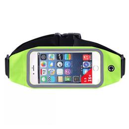 Wholesale Waist Pouches For Men - Multifunctional men women Sport running waistband for iphone 6 6 plus travel waist belt pouch bag cellphone case