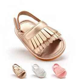 Wholesale Pink Sandals For Toddler - 2016 Summer baby Shoes tassel sandals moccs breathable toddlers moccasins baby shoes Kids Shoes for Girls and Boys 6 pair free ship