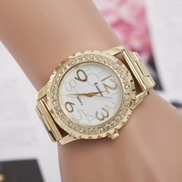 Wholesale Cheap Ladies Fashion Watches - Luxury branding diamond watches for women quartz cheap woman watch stainless steel ladies bracelet Crystal Rhinestone reloj