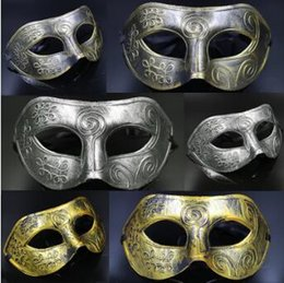 Wholesale Halloween Prince Costume - Masquerade Masks Halloween Costumes Halloween Mask Half Face Party Masks Masquerade Knight Prince Mask Mardi Gras Party Mask CCA7418 1200pcs
