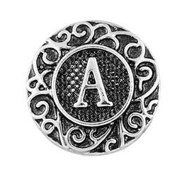 2017 Antique 26 pcs Initial A-Z Alphabet Snaps 18 mm Lettre Snap Bouton pour Ginger Snap Charme Bracelet Bijoux ? partir de fabricateur