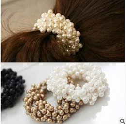 Wholesale Hair Clips Adults - Pearl Korean Style Band Clips Tie Rope Korean Fashion Adult Hair Accessorie 2016 New Sweet Princess H196