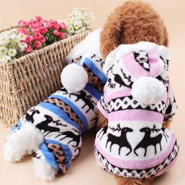 Wholesale Polar Pink - Dog Clothes Deer Polar Fleece Four-Legged Dog Suit Blue Pink Dog Costumes Pet Supplies 4 Sizes To Choose