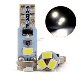 Wholesale Led Indicator Light Bulbs Wedge - Hotsale 100pcs T5 Wedge Base Light 3020 5SMD 5 LED Bulbs Car Indicator Light Wedge Lamp