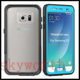 Wholesale New Shock Proof Case Cover - 2016 New S7 Ultra thin Waterproof Case Snow Dust Proof Cover For Samsung Galaxy S7 Edge Shock-proof Snow-proof PET Material