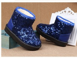 Wholesale Girl Knee High Boots Snow - BOOTS 10_1- 2017 Children Snow Boots Sequined Cloth Winter Girls boots
