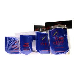 Wholesale U Lock Pick - KLOM PUMP WEDGE LOCKSMITH TOOLS Auto Air Wedge Airbag Lock Pick Set Open Car Door Lock Blue S M L U 4pcs lot