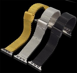 Wholesale Kinds Watch Strap - iwatch watchband Stainless steel Metal watchband Contain Connector 2 kinds of specifications 38mm 42mm fashion Smart watch strap Wholesale