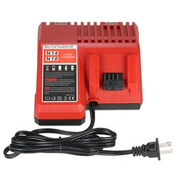 Wholesale 18v Tool Battery - 18V Power Tool Lithium Battery Charger Replacement for Milwaukee M18 Power Tool Accessories US EU Plug type(optional)