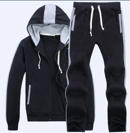 Wholesale Jogging Pants Fashion Mens - NEW Sweatshirts Mens Polo Tracksuits Winter Jogging Sportsuits Fashion Running Sportswear Big Horse Hoodies Trousers Coats Pants Jackets