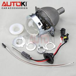 Wholesale Koito Projector - Free Shipping 3 Inches Q5 Koito Bi-xenon HID Projector Lens LHD Universal Fast Install + Bulb 4300K-6000K