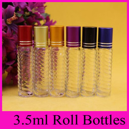 Wholesale Wholesale Glass Beads For Sale - 3.5ml glass bottle glass beads ball on bead dispensing bottle bottle small roll on bottles for essential oils perfume bottles hot sales