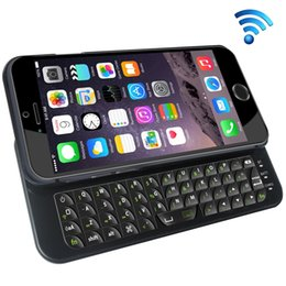Wholesale Bluetooth Slide Out Keyboard - Wholesale-K660 Mobile Phone Keypads, Bluetooth Slide-out Keyboard Case for iPhone 6 & 6S