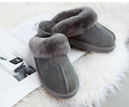 Wholesale Warm Indoor Boots Women - Hot!High quality Warm cotton slippers MenAnd Womens slippers Short Boots Women boots Snow boots Designer Indoor cotton slippers Leather boot