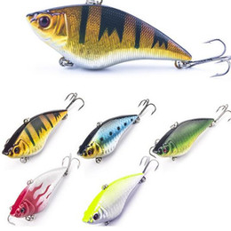 Wholesale 7cm Lures - 7cm 16g Hard Fishing Lure VIB Rattlin Hook Fishing Sinking Vibra Rattlin Hooktion Lures Crank Baits