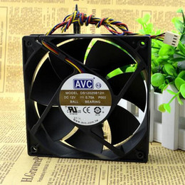 Wholesale Temperature Speed Control - AVC DS12025B12H 120*120*25 12V 0.75A 12CM 4 line support PWM temperature control speed regulating fan