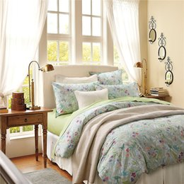 Wholesale King Sheet Sets Egyptian Cotton - Home textile Classic American country style 100% luxury Egyptian cotton 4pcs Bed set sping green twin queen king size bed sheet pillowcase
