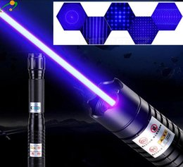 Wholesale High Powered Laser 445nm - High Power Military 445nm 450nm Blue Laser Pointer Pen Visible Beam Light Cigarette Burn Paper Burn Wood Range To 10000m