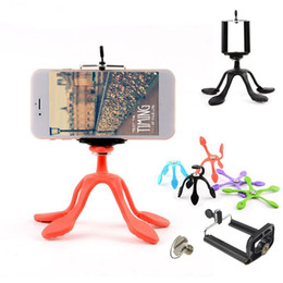 Wholesale Camera Mounting - Portable Universal Flexible Gecko Mini Tripod Mount Multi Function Phone Camera Stand Octopus Spider Holder For All Phones