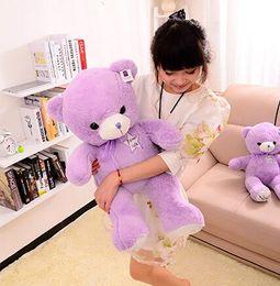 Wholesale Girl Sweet Teddy Bear - 2016 Super cute 40cm cartoon sweet bowknot lavender teddy bear plush doll home decoration stuffed toy children baby girl gift