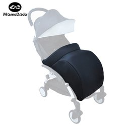 Wholesale Infant Carriages - Wholesale- Baby Pram Foot Cover Baby Yuyu Yuya Stroller Accessories Infant Carriages Socks Cotton Pad Warm And Windproof Hood Winter