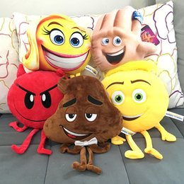 Wholesale Soft Plush Animals - 2017 new The Emoji Movie Plush Toys Soft Dolls Stuffed Animals Toys for Kids Poo Devil Children Xmas Gifts Kids Stuffed Toys C2284